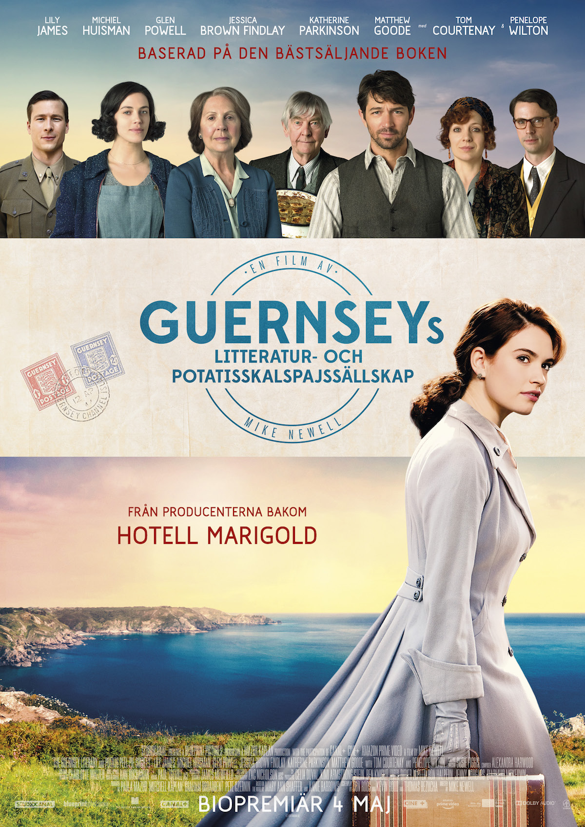 Omslag till filmen: The Guernsey Literary and Potato Peel Pie Society